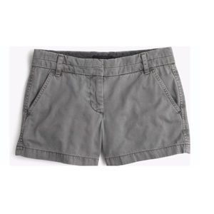 J crew gray chino shorts size 6
